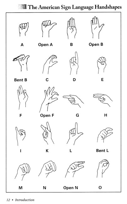 american sign language hand chart just b cause